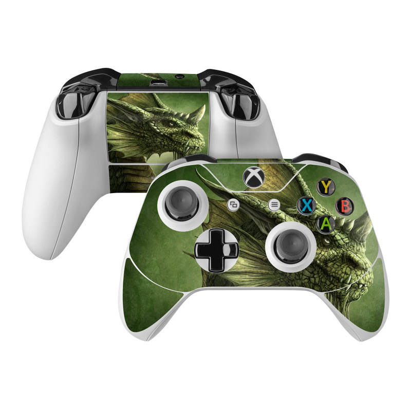 Green Dragon Xbox One Controller Skin