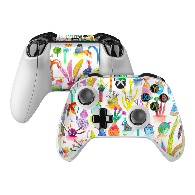 Xbox One Controller Skin design of Pattern with white, yellow, green, blue, orange, pink, purple, brown, black colors