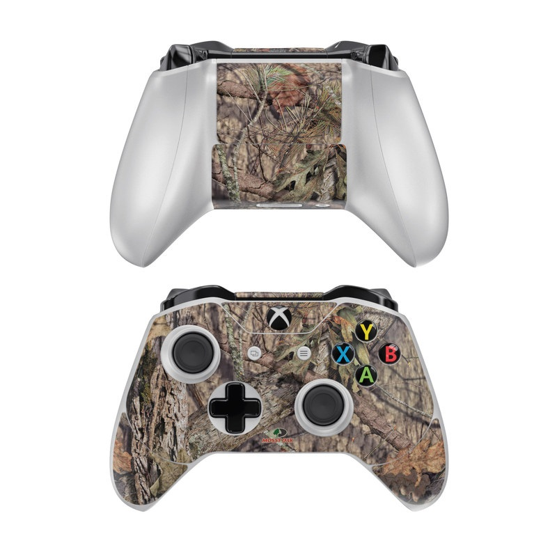 Xbox One Controller Skin design of shellbark hickory, Camouflage, Tree, Branch, Trunk, Plant, Leaf, Adaptation, Wood, Twig with orange, green, red, black, gray colors