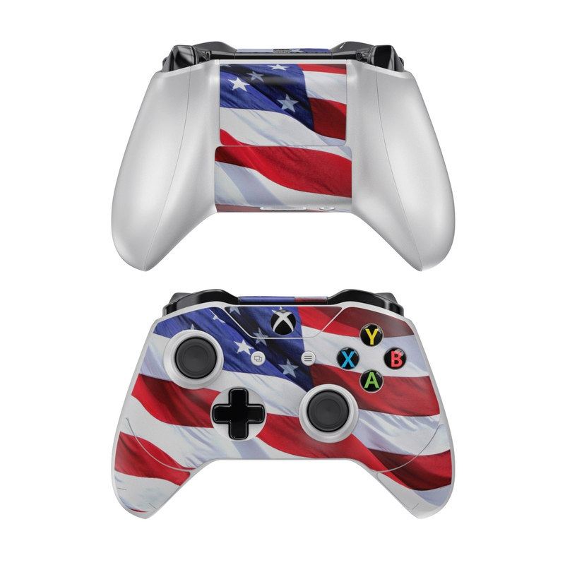 Xbox One Controller Skin design of Flag, Flag of the united states, Flag Day (USA), Veterans day, Memorial day, Holiday, Independence day, Event with red, blue, white colors
