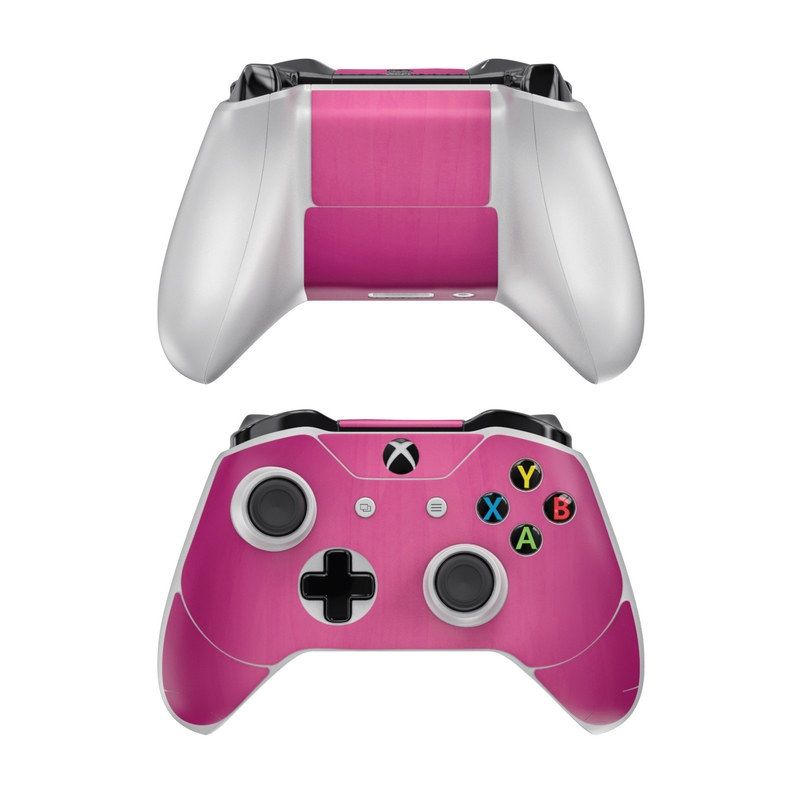 Xbox One Controller Skin design of Pink, Violet, Red, Purple, Magenta, Lilac, Material property, Pattern with red, purple colors
