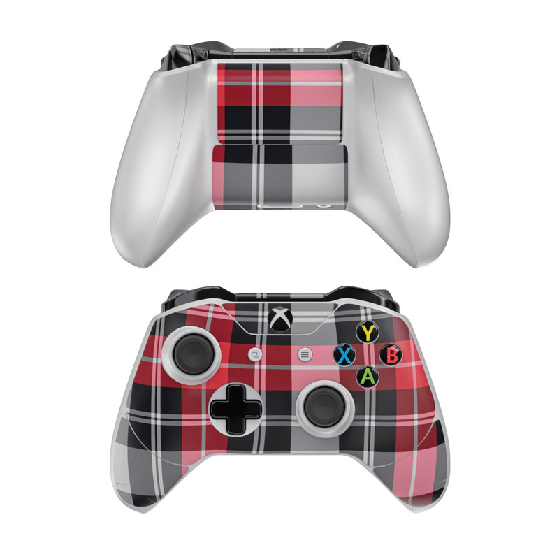 Red Plaid Xbox One Controller Skin