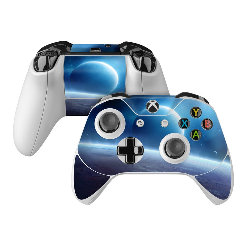Xbox One Controller Skin design of Atmosphere, Outer space, Nature, Sky, Astronomical object, Planet, Universe, Space, Atmospheric phenomenon, Earth with white, blue, black, brown colors