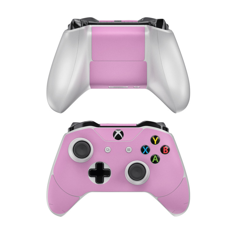 Xbox One Controller Skin design of Pink, Violet, Purple, Red, Magenta, Lilac, Sky, Material property, Peach with pink colors
