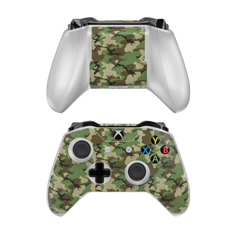 Woodland Camo Xbox One Controller Skin