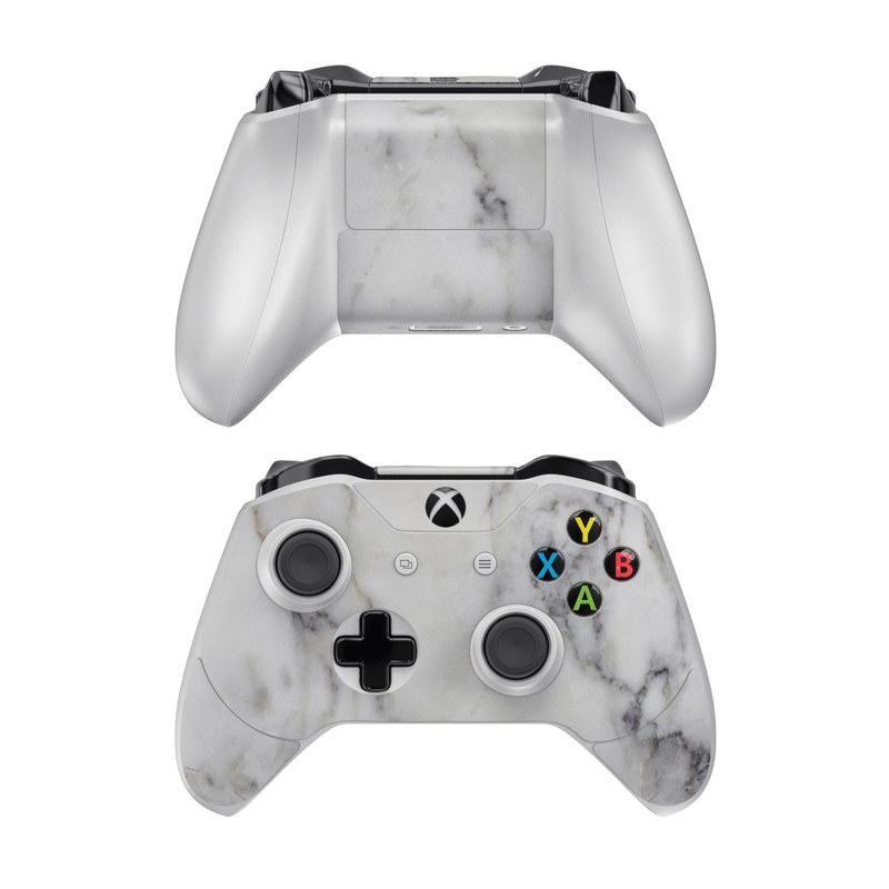 Xbox One Controller Skin design of White, Geological phenomenon, Marble, Black-and-white, Freezing with white, black, gray colors