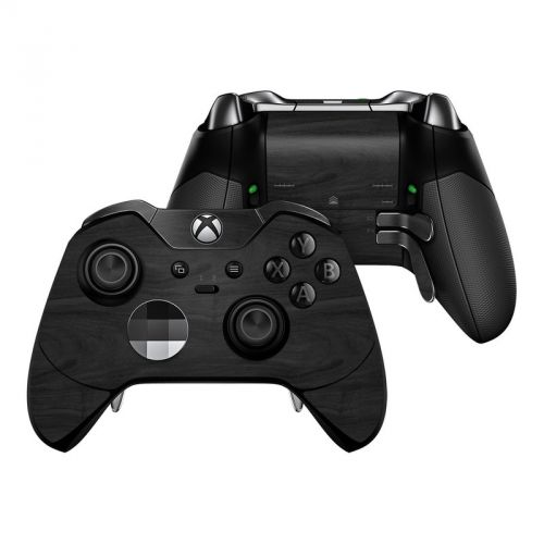Black Woodgrain Xbox One Elite Controller Skin