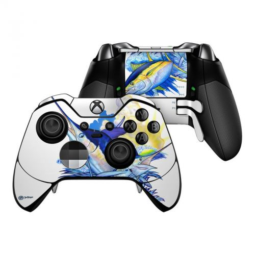 Blue White and Yellow Xbox One Elite Controller Skin