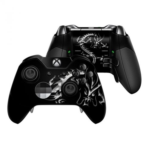Chrome Dragon Xbox One Elite Controller Skin