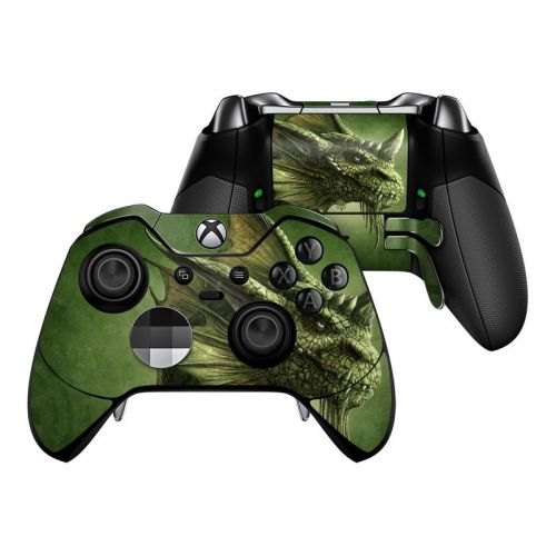 Green Dragon Xbox One Elite Controller Skin