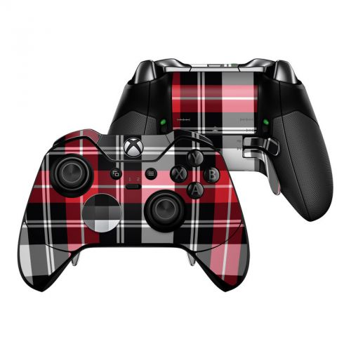 Red Plaid Xbox One Elite Controller Skin