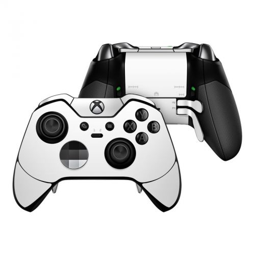 Solid State White Microsoft Xbox One Elite Controller Skin