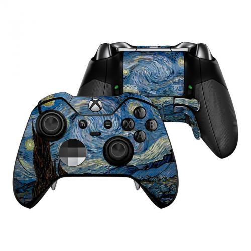 Starry Night Microsoft Xbox One Elite Controller Skin