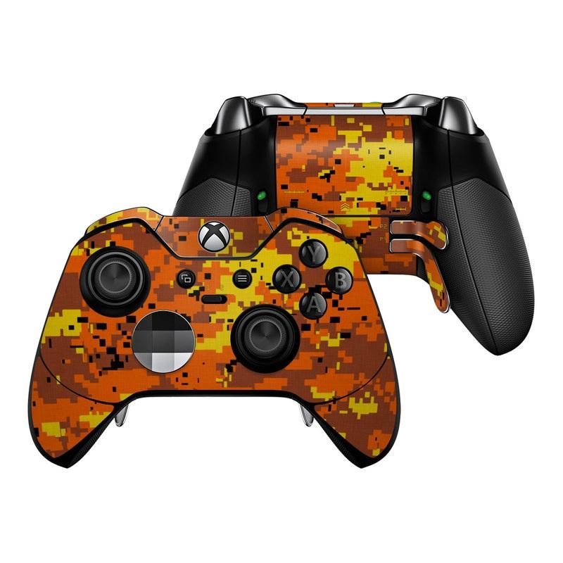 Digital Orange Camo Xbox One Elite Controller Skin