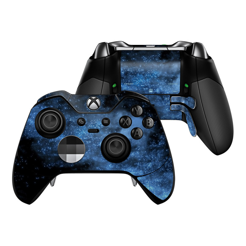 Xbox One Elite Controller Skin design of Sky, Atmosphere, Black, Blue, Outer space, Atmospheric phenomenon, Astronomical object, Darkness, Universe, Space with black, blue colors