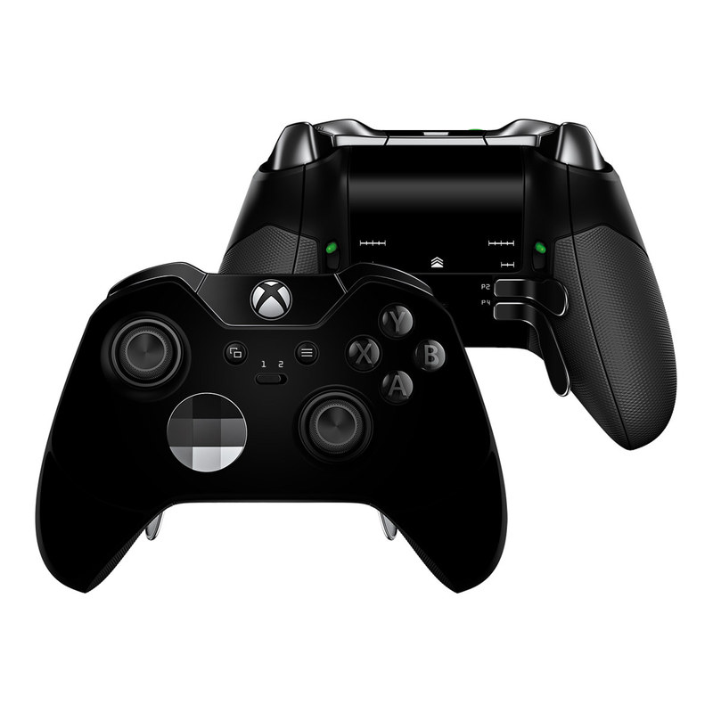 Xbox One Elite Controller Skin design of Black, Darkness, White, Sky, Light, Red, Text, Brown, Font, Atmosphere with black colors