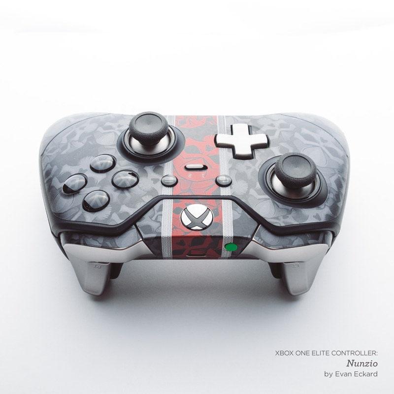 Black Woodgrain Xbox One Elite Controller Skin