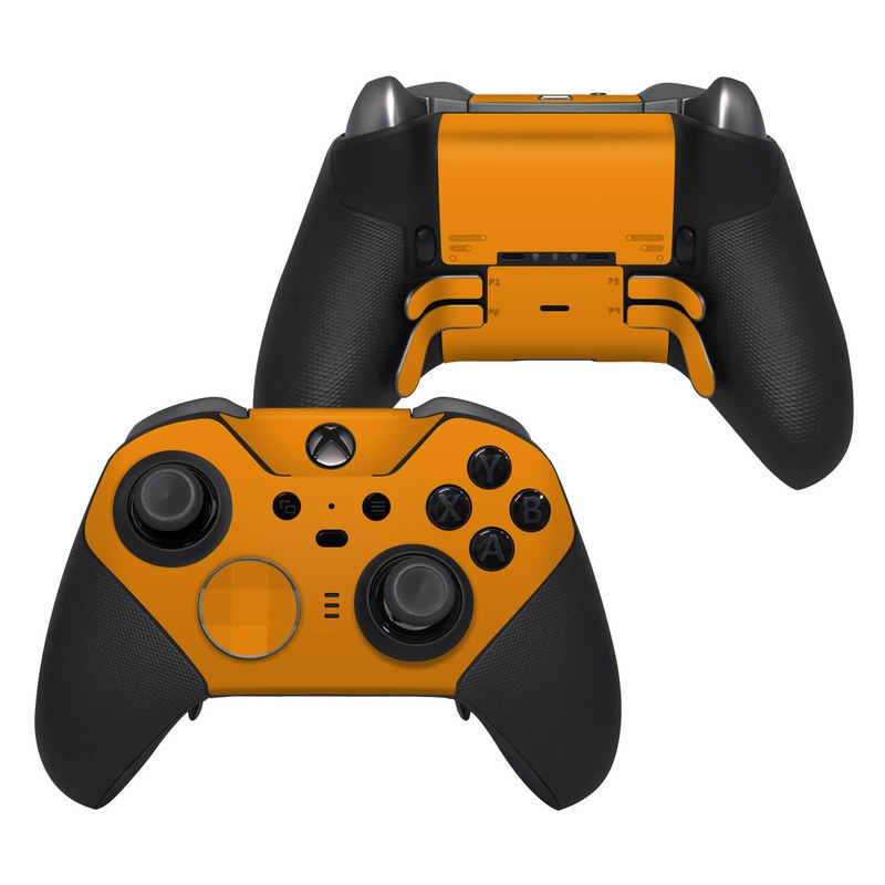 Xbox Elite Controller Series 2 Skin design of Orange, Yellow, Brown, Text, Amber, Font, Peach with orange colors