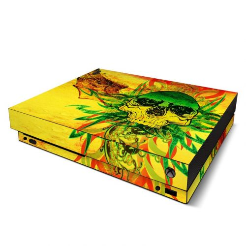 Hot Tribal Skull Xbox One X Skin