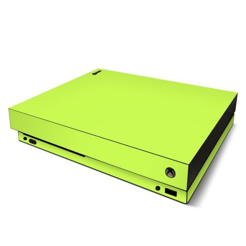 Solid State Lime Xbox One X Skin