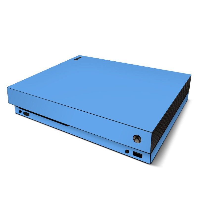 Xbox One X Skin design of Sky, Blue, Daytime, Aqua, Cobalt blue, Atmosphere, Azure, Turquoise, Electric blue, Calm with blue colors