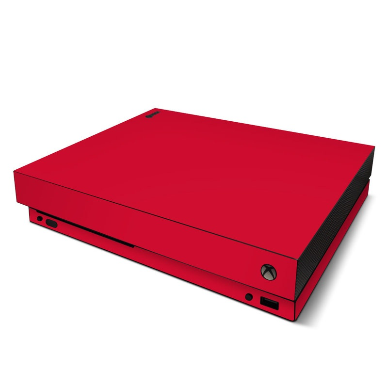 Solid State Red Xbox One X Skin