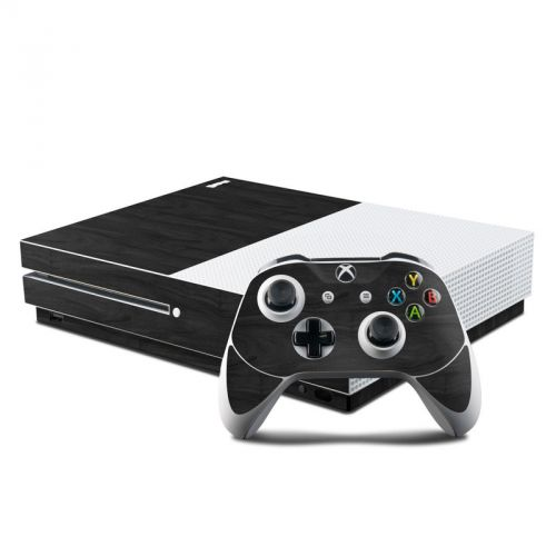 Black Woodgrain Xbox One S Skin