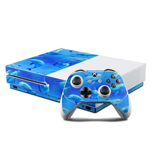 Swimming Dolphins Xbox One S Skin