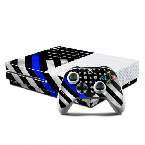 Thin Blue Line Hero Xbox One S Skin