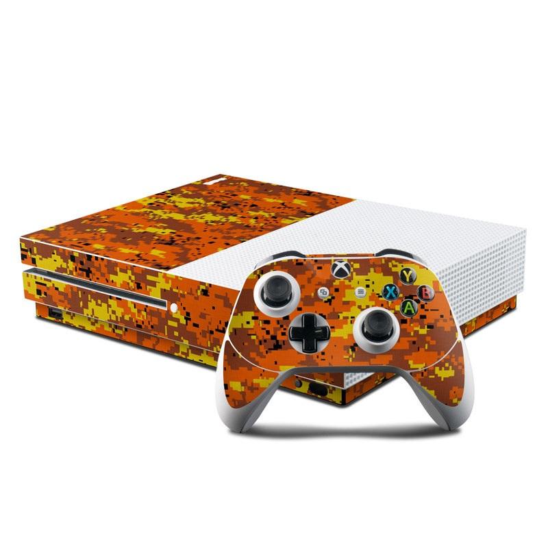 Digital Orange Camo Xbox One S Skin