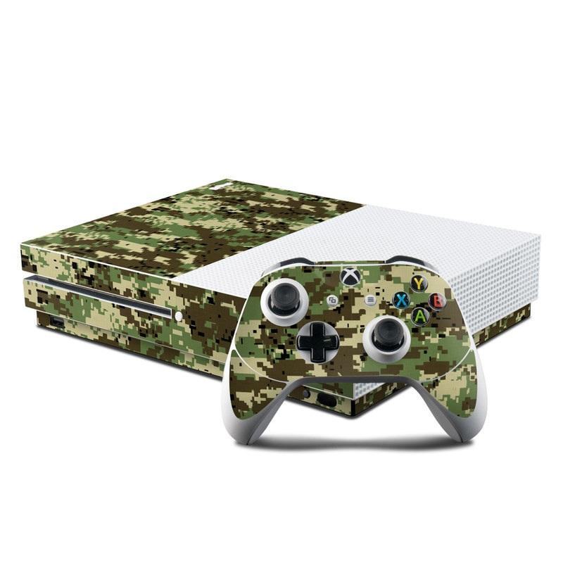 Digital Woodland Camo Xbox One S Skin