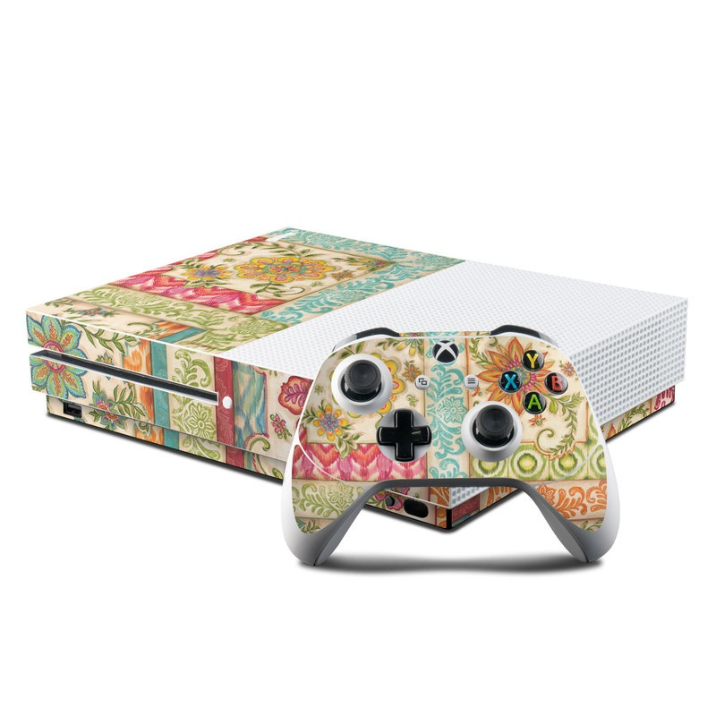 Ikat Floral Xbox One S Skin