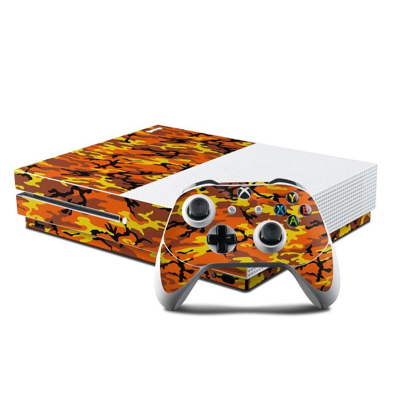 Orange Camo Xbox One S Skin