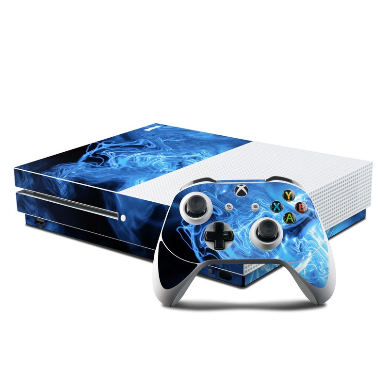 Blue Quantum Waves Xbox One S Skin
