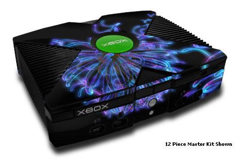 Blue Virii Xbox Skin
