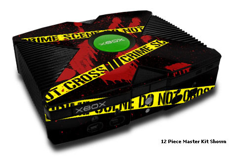 Old Xbox Skin design of Red, Black, Font, Text, Logo, Graphics, Graphic design, Room, Carmine, Fictional character with black, red, green colors