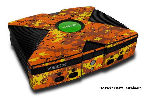 Digital Orange Camo Xbox Skin