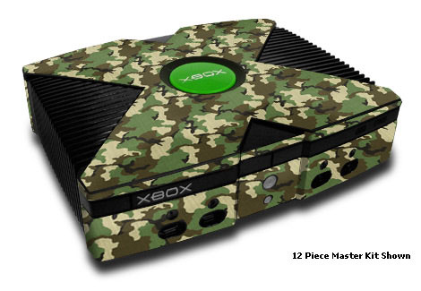 Old Xbox Skin design of Military camouflage, Camouflage, Clothing, Pattern, Green, Uniform, Military uniform, Design, Sportswear, Plane with black, gray, green colors
