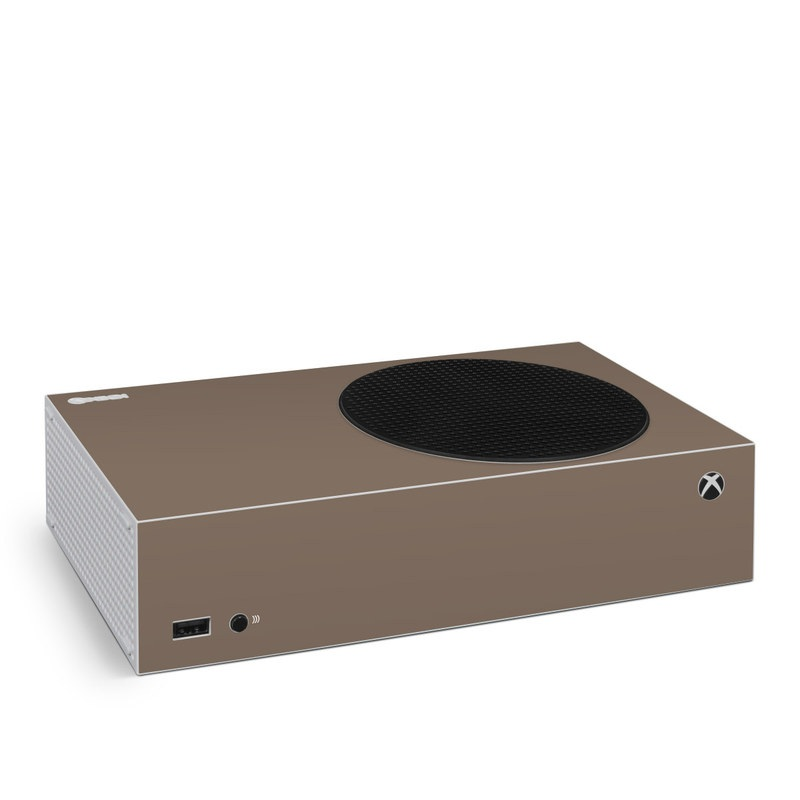 Xbox Series S Skin design of Brown, Text, Beige, Material property, Font with brown colors