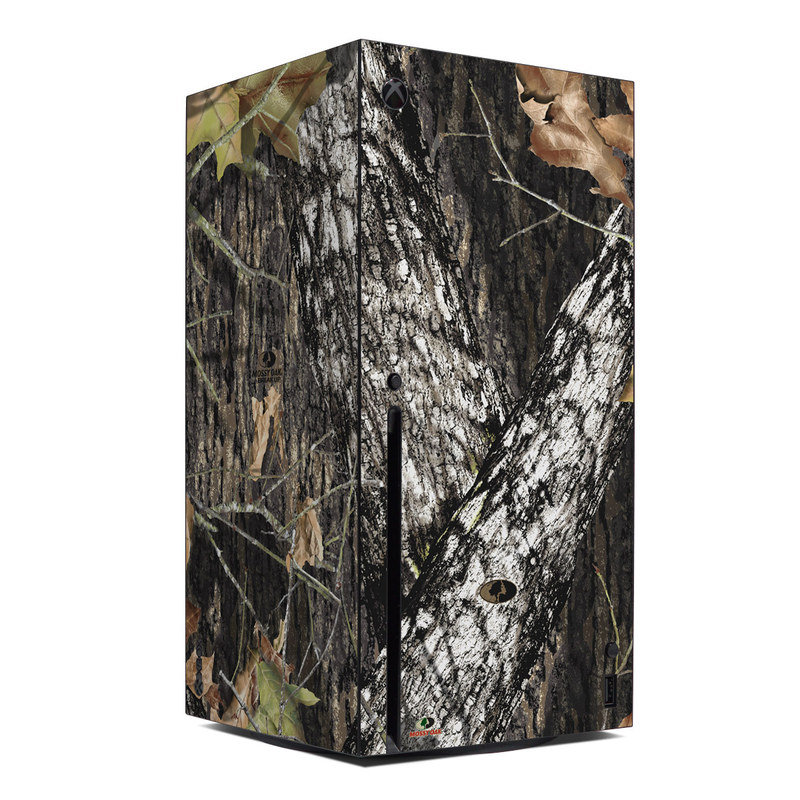 Xbox Series X Skin design of Leaf, Tree, Plant, Adaptation, Camouflage, Branch, Wildlife, Trunk, Root with black, gray, green, red colors