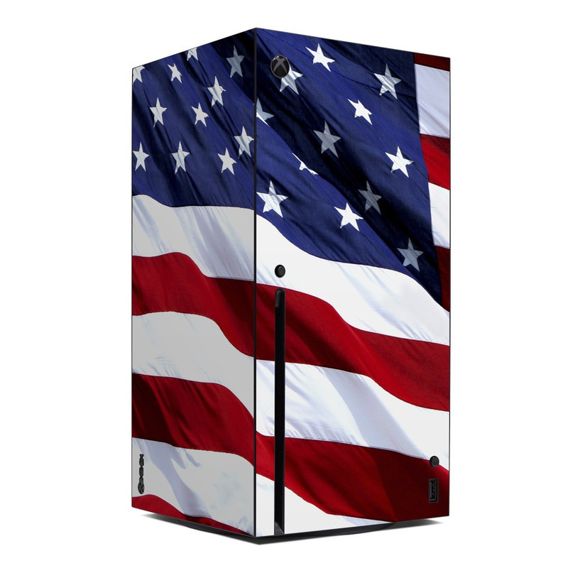Xbox Series X Skin design of Flag, Flag of the united states, Flag Day (USA), Veterans day, Memorial day, Holiday, Independence day, Event with red, blue, white colors