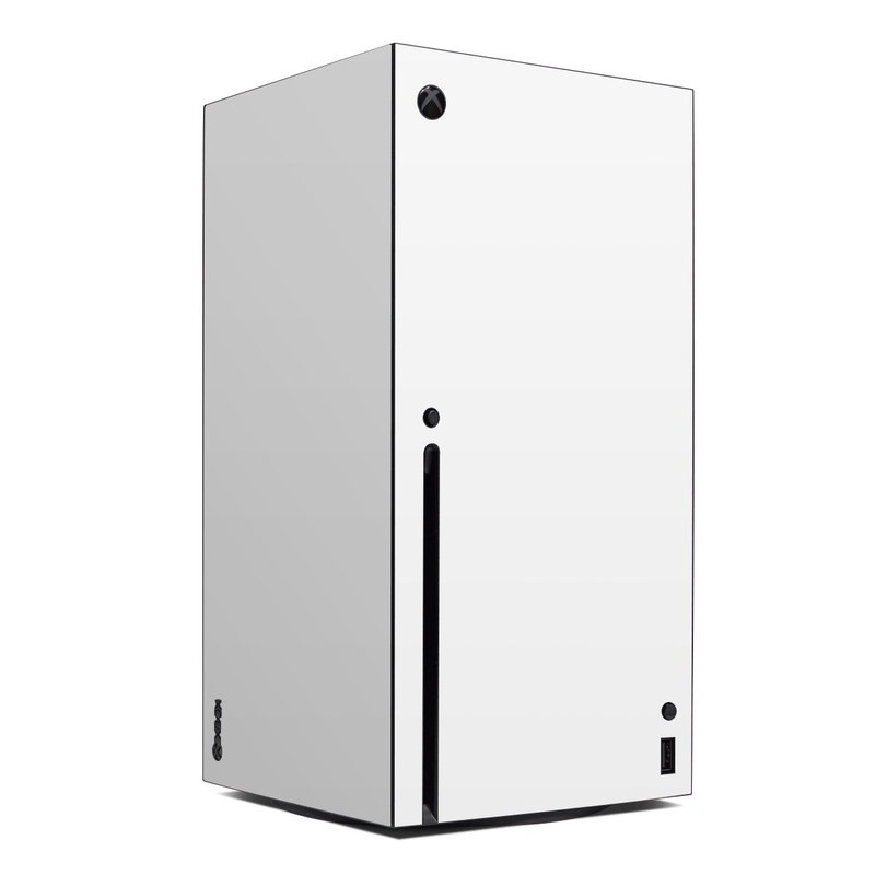 Xbox Series X Skin design of White, Black, Line with white colors