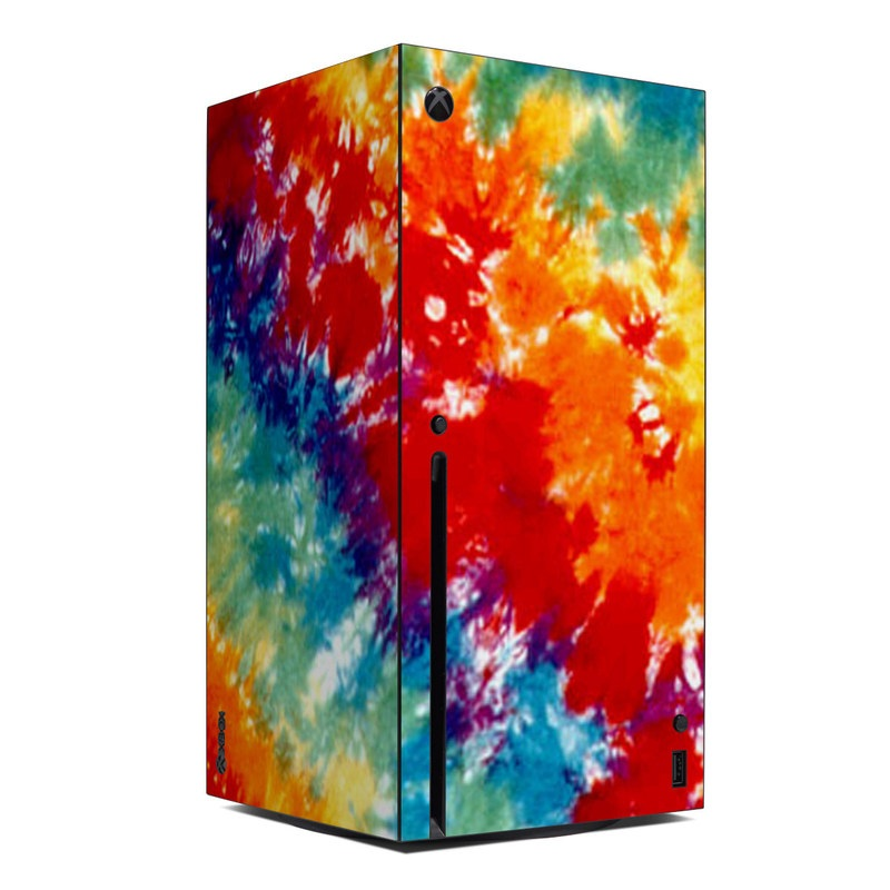 Xbox Series X Skin design of Orange, Watercolor paint, Sky, Dye, Acrylic paint, Colorfulness, Geological phenomenon, Art, Painting, Organism with red, orange, blue, green, yellow, purple colors