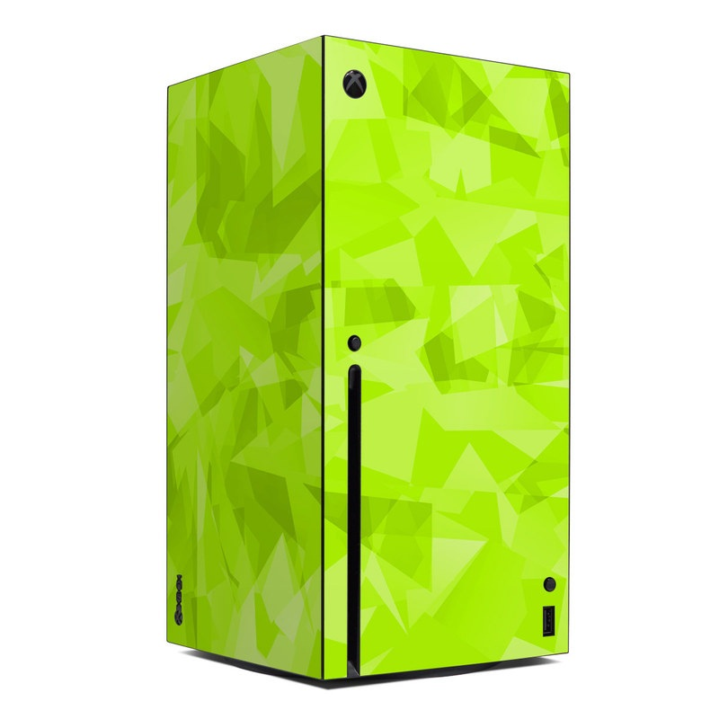Xbox Series X Skin design with green colors