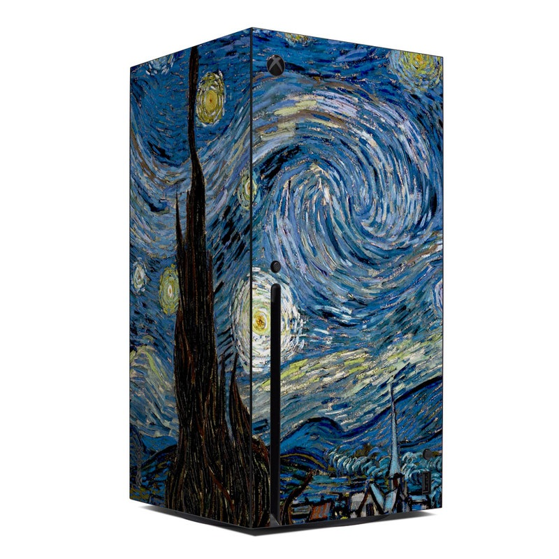 Xbox Series X Skin design of Painting, Purple, Art, Tree, Illustration, Organism, Watercolor paint, Space, Modern art, Plant with gray, black, blue, green colors