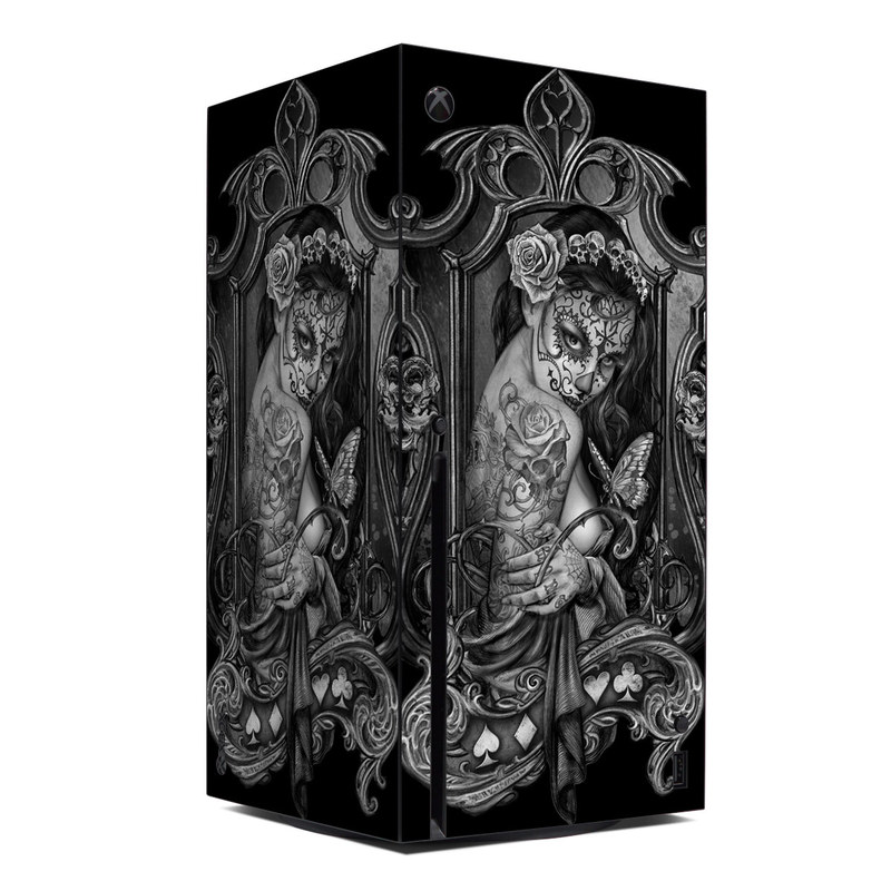 Xbox Series X Skin design of Style, Art, Monochrome, Black-and-white, Monochrome Photography, Visual Arts, Illustration, Painting, Drawing with black, white, gray colors