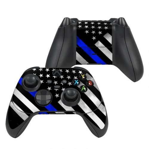Thin Blue Line Hero Xbox Series X Controller Skin