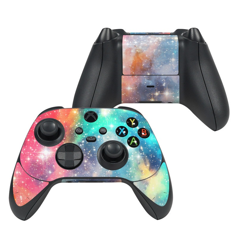 Xbox Series X Controller Skin design of Nebula, Sky, Astronomical object, Outer space, Atmosphere, Universe, Space, Galaxy, Celestial event, Star with white, black, red, orange, yellow, blue colors