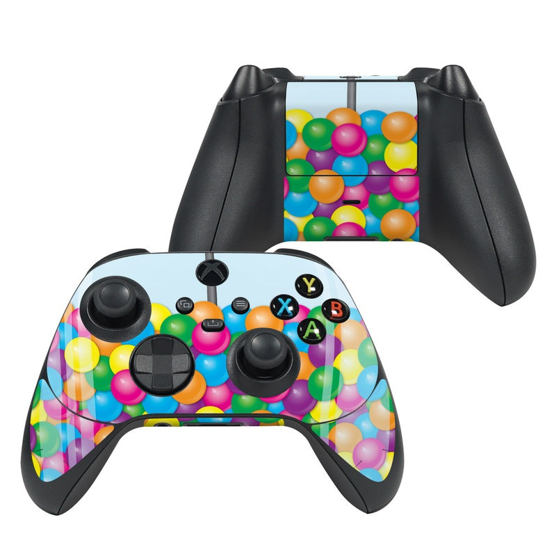 Xbox Series X Controller Skin design of Machine, Chew, Sweets, Candy, Vending with red, gray, black, blue, pink, purple, green, yellow, orange colors
