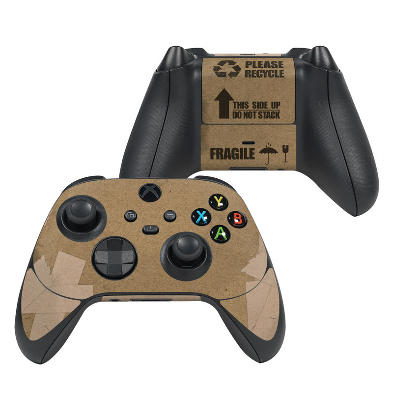 Xbox Series X Controller Skin design with brown, black colors